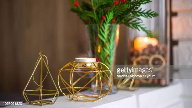 close-up of candlestick holder on retaining wall - candlestick holder stock pictures, royalty-free photos & images