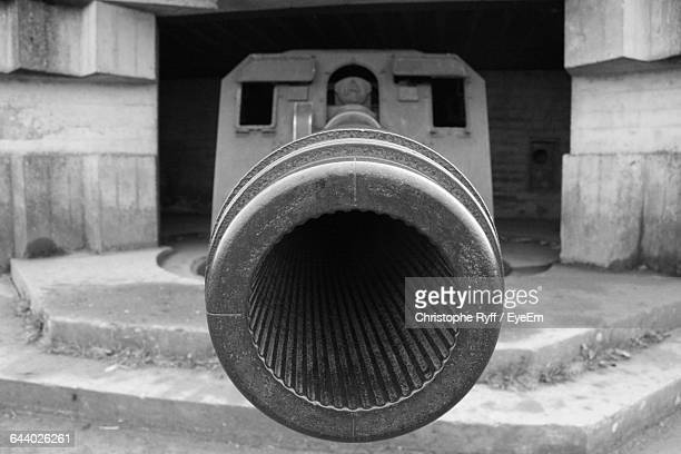 close-up of cannon barrel - cannon stock pictures, royalty-free photos & images