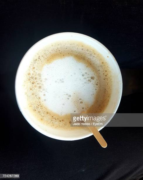 close-up of cappuccino - disposable cup stock pictures, royalty-free photos & images