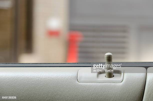 Close-Up Of Car Door Lock