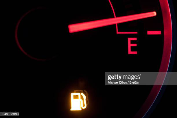 Close-Up Of Car Fuel Gauge