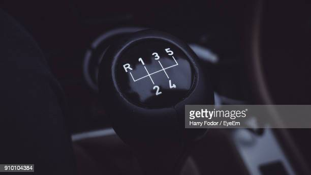close-up of car gearshift - gearshift stock photos and pictures