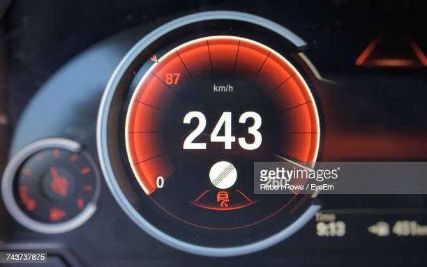 Close-Up Of Car Speedometer