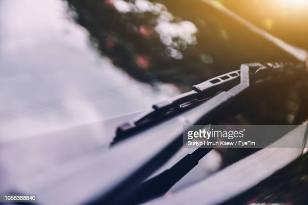 close-up of car windshield - windshield stock pictures, royalty-free photos & images