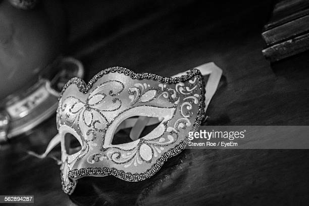 Close-Up Of Carnival Mask On Table
