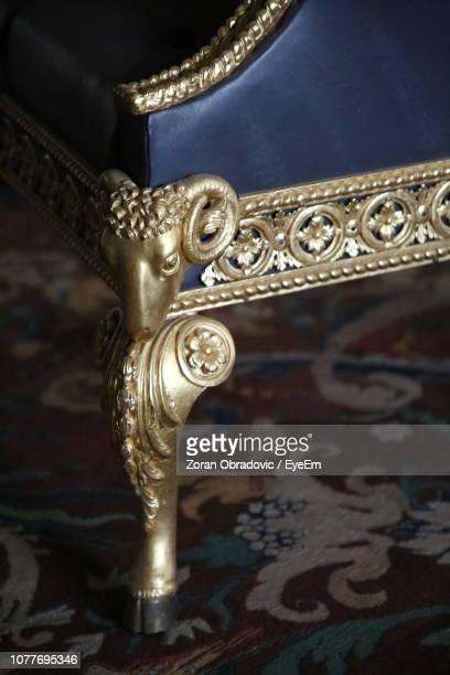 Close-Up Of Carving On Furniture