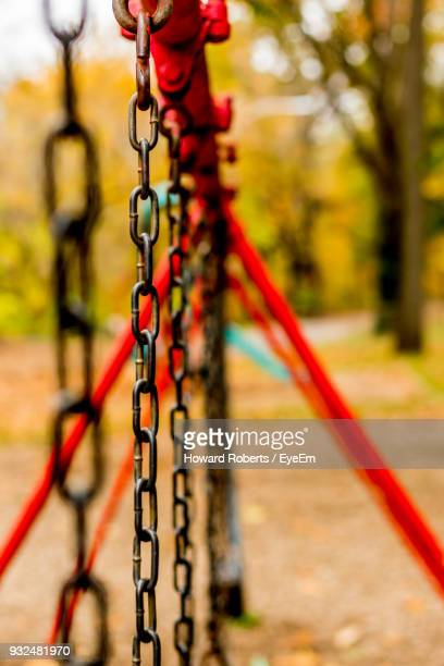 Close-Up Of Chains At Playground