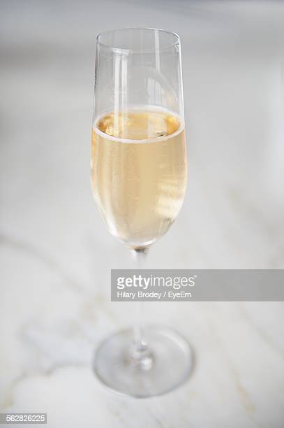 Close-Up Of Champagne Flute On Table