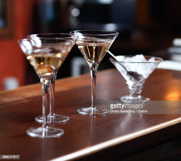 Close-Up Of Champagne Glass On Table