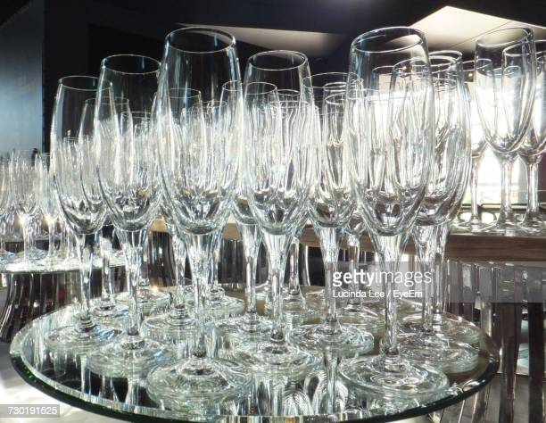 close-up of champagne glasses - lucinda lee stock photos and pictures