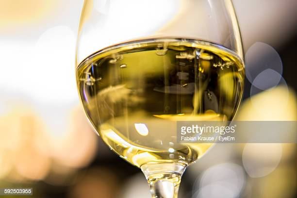 Close-Up Of Champagne In Wineglass