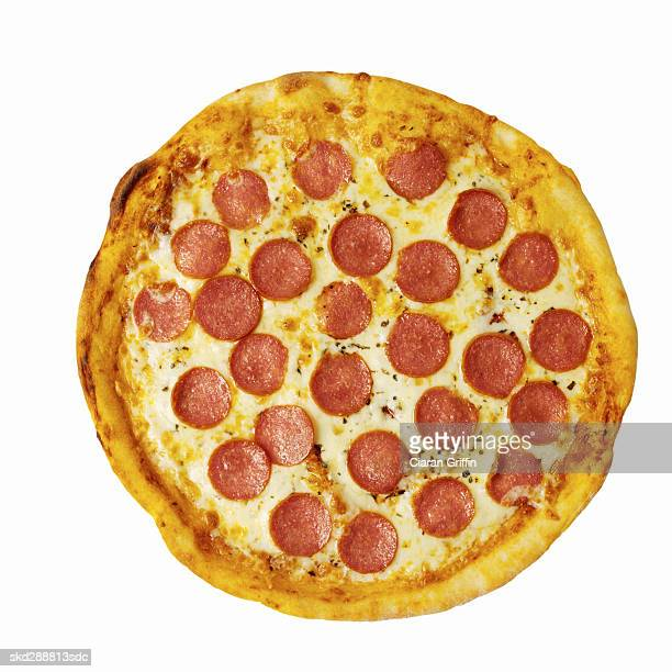 Close-up of cheese and pepperoni pizza