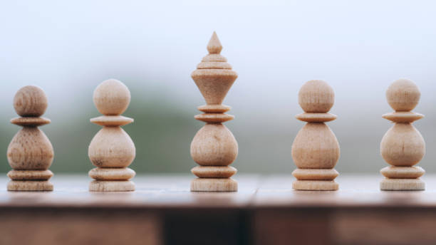 Close-Up Of Chess Board Against White Background