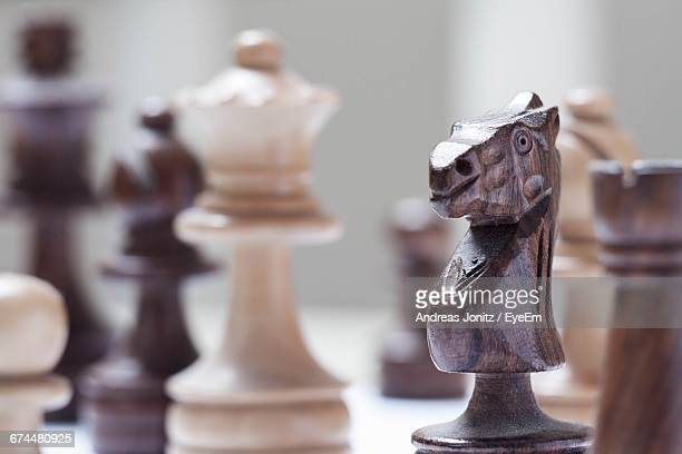 Close-Up Of Chess Figure