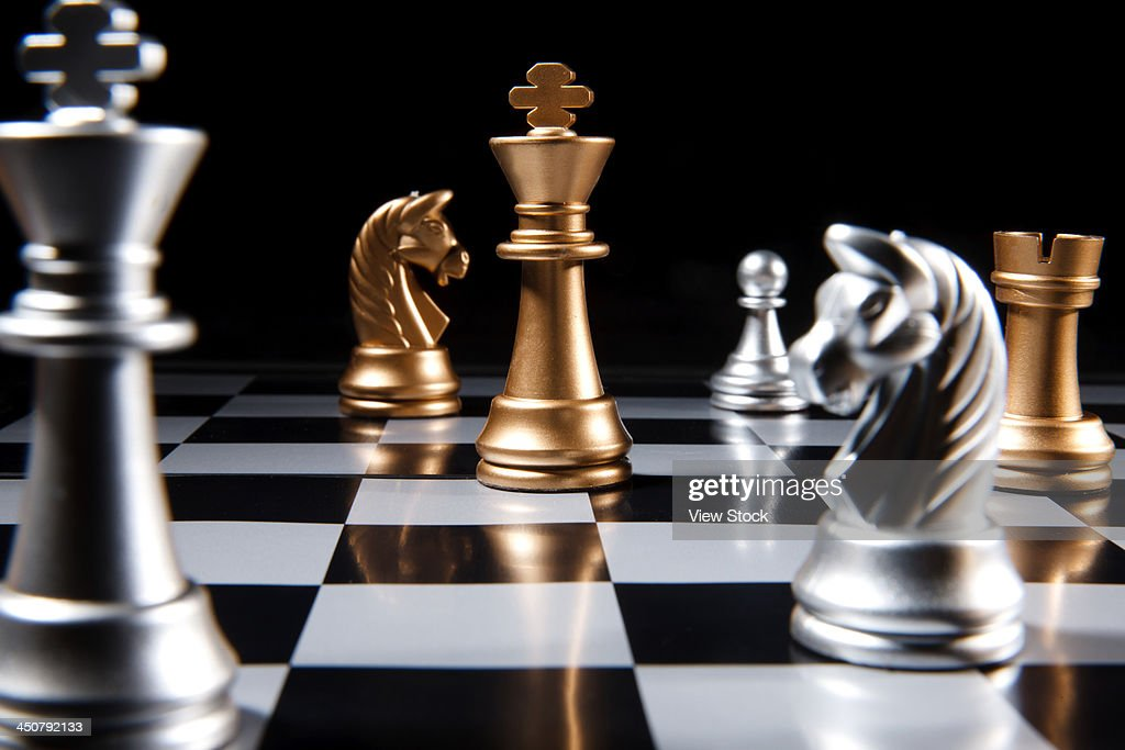 Close-up of chess : Stock Photo