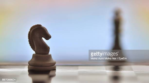close-up of chess piece - chess stock pictures, royalty-free photos & images
