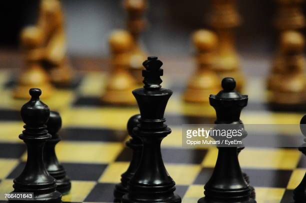 close-up of chess pieces - oppie muharti stock pictures, royalty-free photos & images