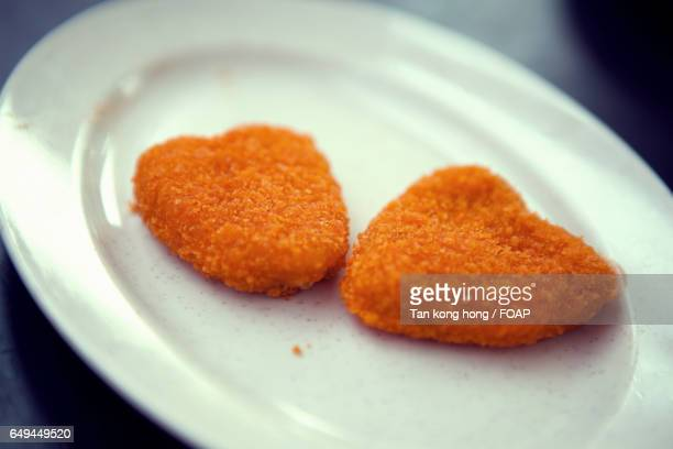 Close-up of chicken nuggets