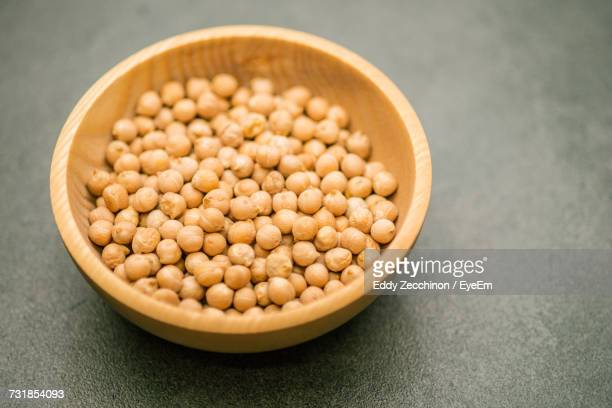 Close-Up Of Chick-Peas In Bowl On Table