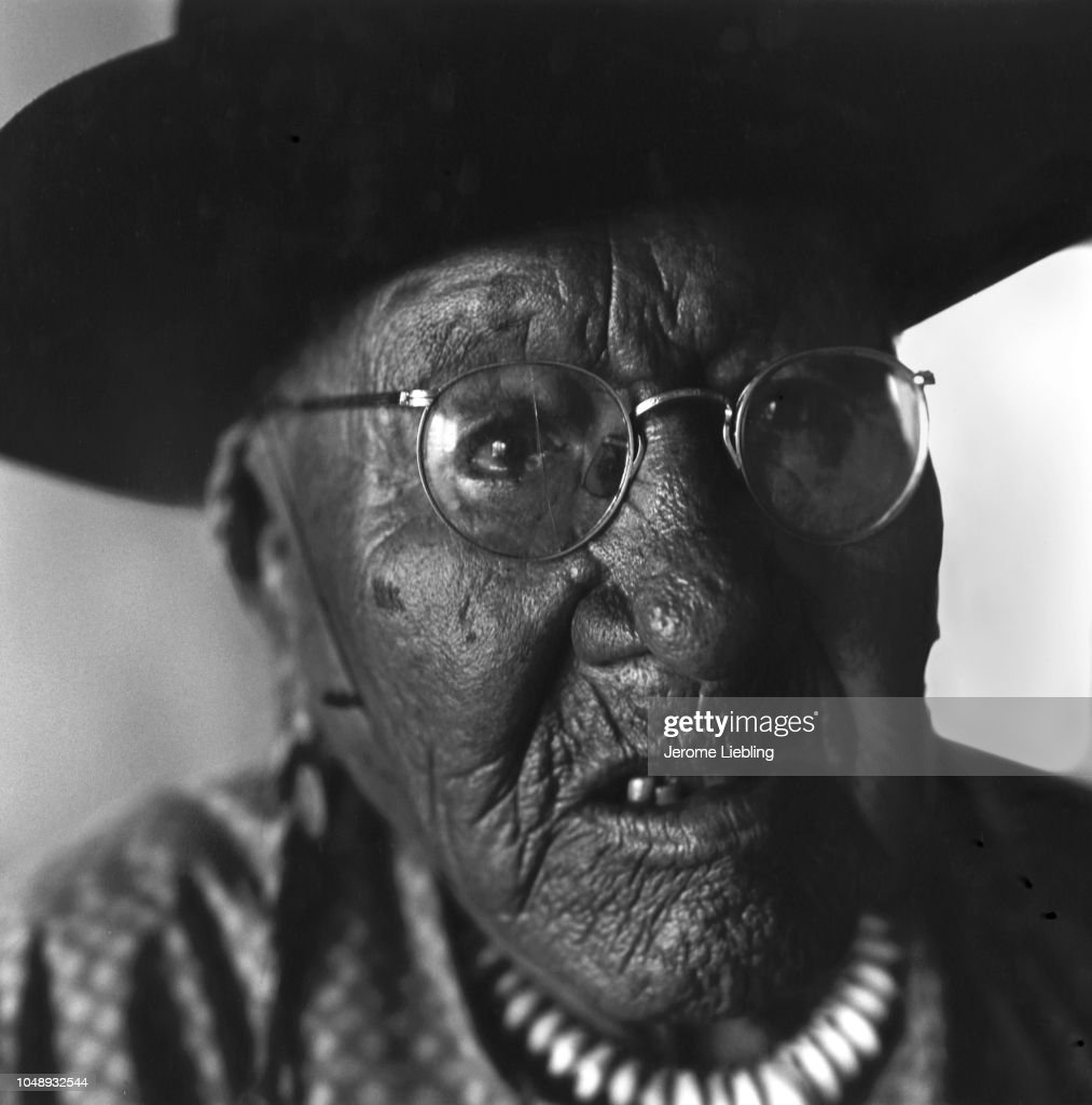 Blackfeet Tribal Chief Running Bear : News Photo
