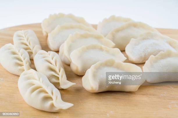 Close-up of Chinese dumplings, Jiaozi