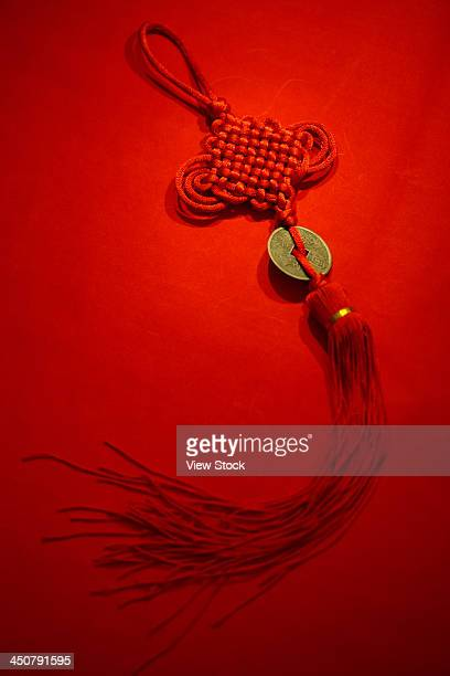 close-up of chinese knot - chinese knotting stock pictures, royalty-free photos & images