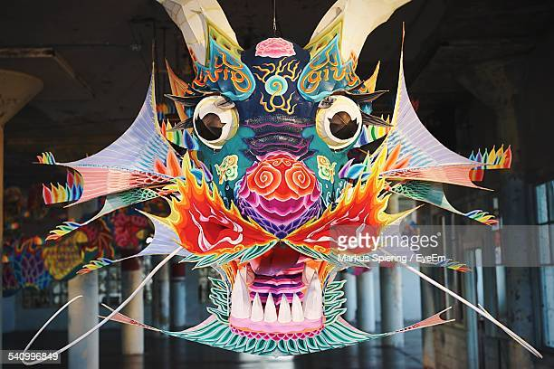 close-up of chinese paper dragon - chinese dragon stock photos and pictures