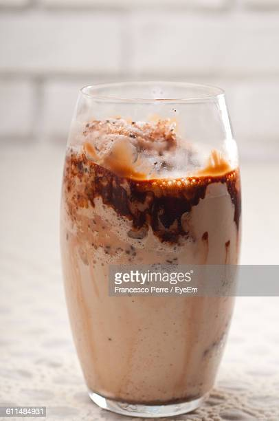 Close-Up Of Chocolate Milkshake