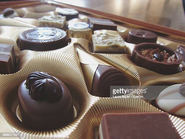 Close-Up Of Chocolates In Box