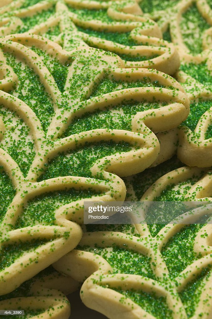 Close-up of Christmas cookies : Foto de stock