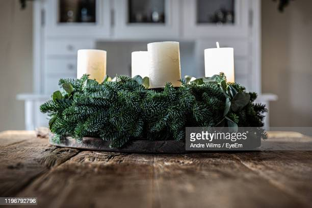 close-up of christmas decoration on table at home - andre wilms eyeem stock-fotos und bilder