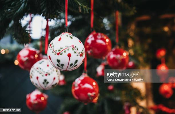 close-up of christmas decoration - christmas market stock pictures, royalty-free photos & images