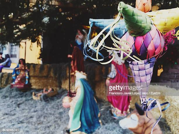 close-up of christmas decorations - mexican christmas stock photos and pictures