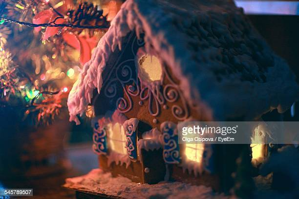 Close-Up Of Christmas Gingerbread House