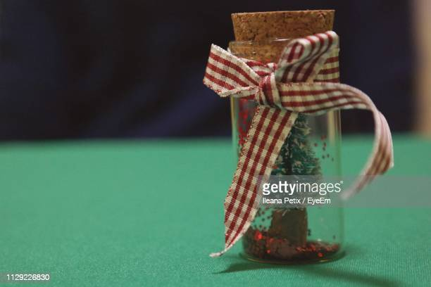 close-up of christmas souvenir - province of caltanissetta stock photos and pictures