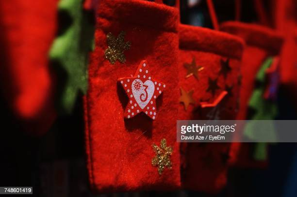Close-Up Of Christmas Stockings