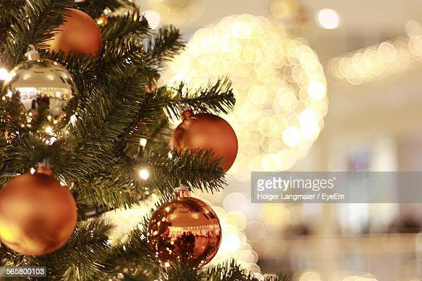 Close-Up Of Christmas Tree Decoration Indoors
