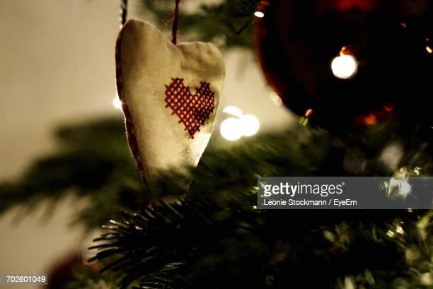 Close-Up Of Christmas Tree Ornament