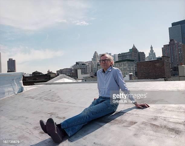 Close-Up Of Christo And Jeanne-Claude. Etats-Unis, 31 mars 1994, le couple d'artistes CHRISTO et son épouse, JEANNE-CLAUDE chez eux, à New York....