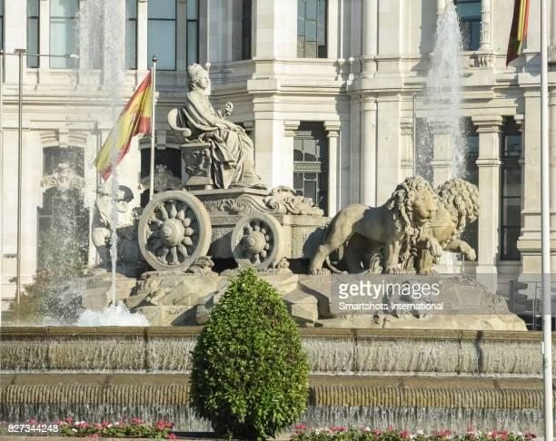 Closeup of Cibeles fountain in Madrid, Spain