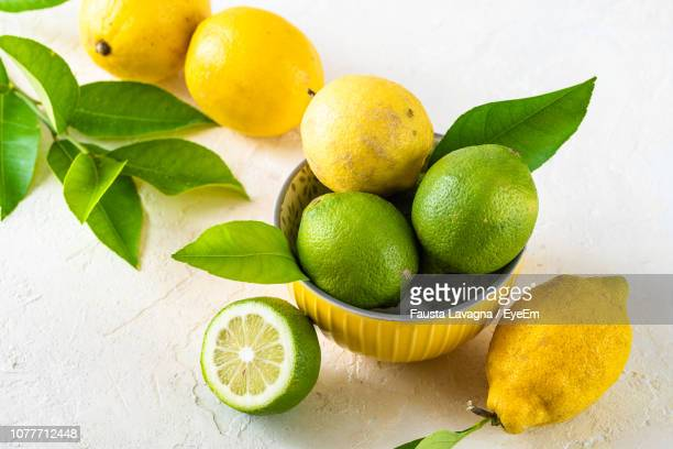 Close-Up Of Citrus Fruits On Table