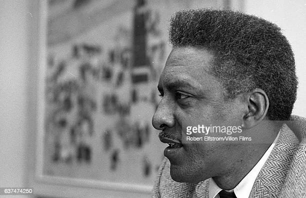 Closeup of Civil Rights leader Bayard Rustin New York 1964