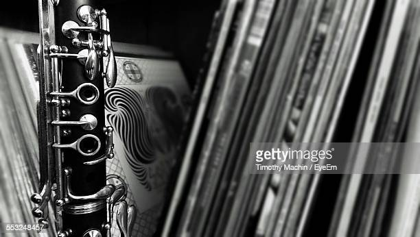 Close-Up Of Clarinet By Vinyl Records