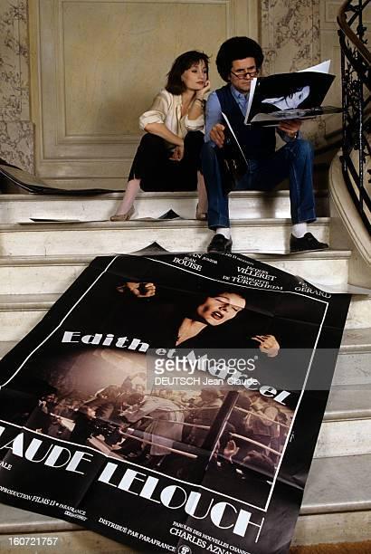 Closeup Of Claude Lelouch And Evelyne Bouix En France en mars 1983 à l'occasion de la sortie du film 'Edith et Marcel' Claude LELOUCH réalisateur et...