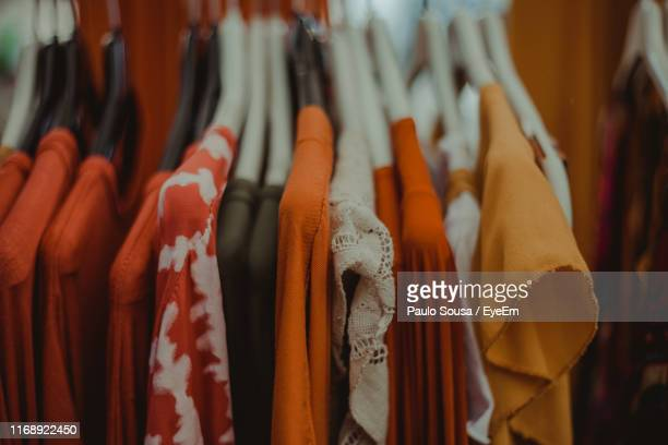 close-up of clothes for sale in market - essentials collection stock pictures, royalty-free photos & images
