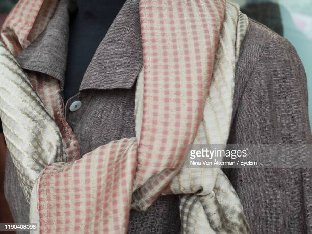 close-up of clothing on mannequin - menswear ストックフォトと画像