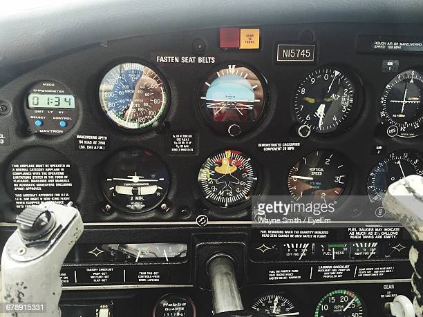 Close-up Of Cockpit Board Of Airplane