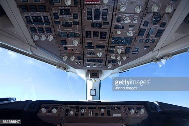 Close-up of cockpit