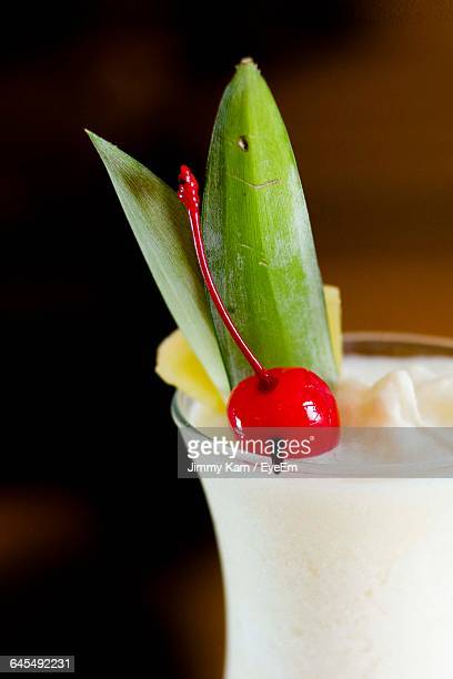 Close-Up Of Coconut Drink