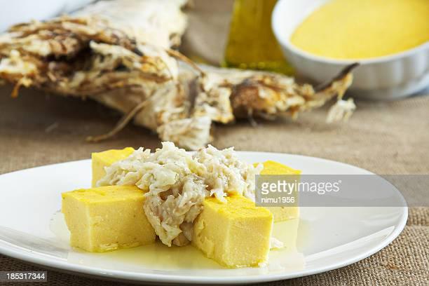 Close-up of cod dish, Baccala alla Vicentina